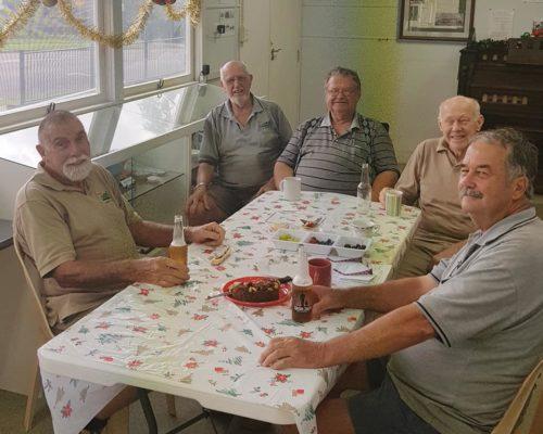 Boys around table